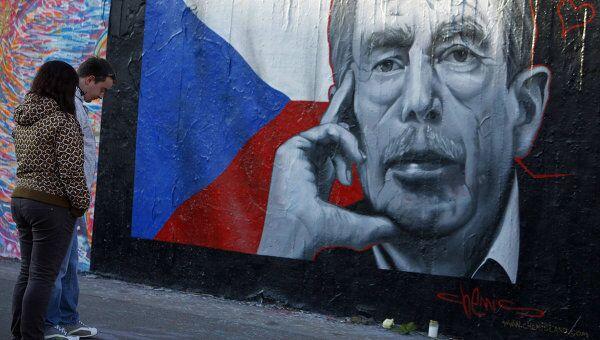 Прощание с экс-президентом Чехии Вацлавом Гавелом. Архив
