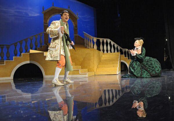 Репетиция спектакля Венецианские близнецы
