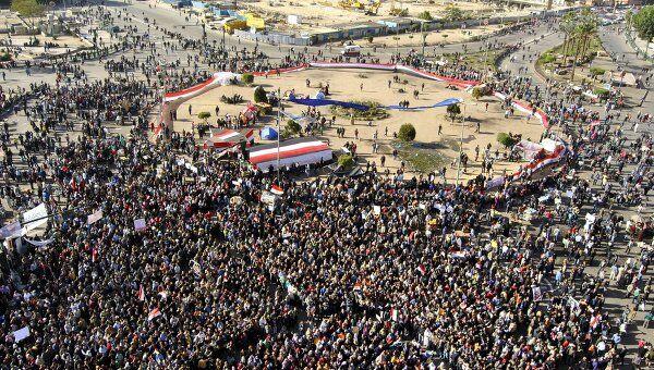 Тысячи каирских демонстрантов вновь вышли на площадь Тахрир
