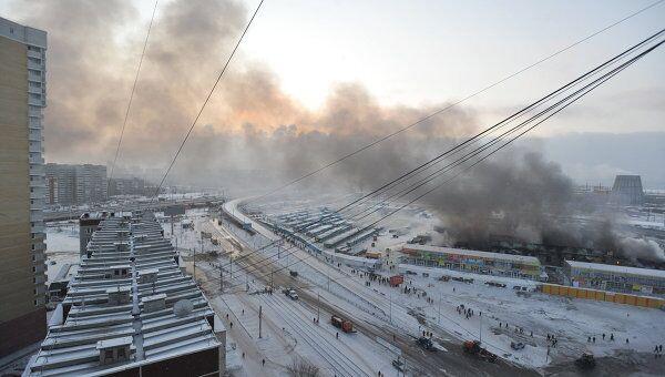 Пожар на вещевых складах в Екатеринбурге локализован