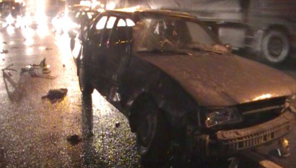 Две крупных аварии и пожар в автомобиле произошли на юго-западе Москвы