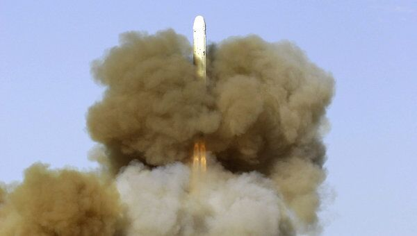 Учебно-боевой пуск межконтинентальной баллистической ракеты РС-18