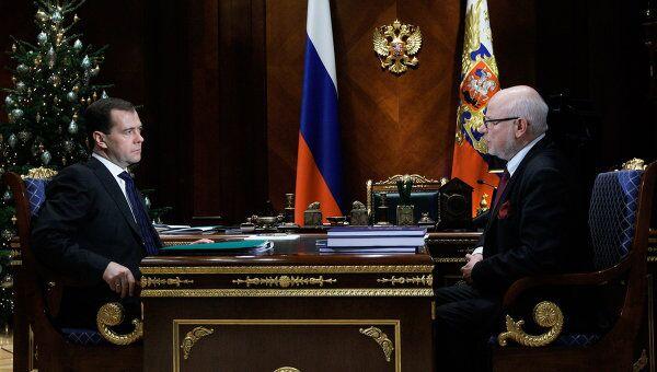 Встреча Д.Медведева и М.Федотова