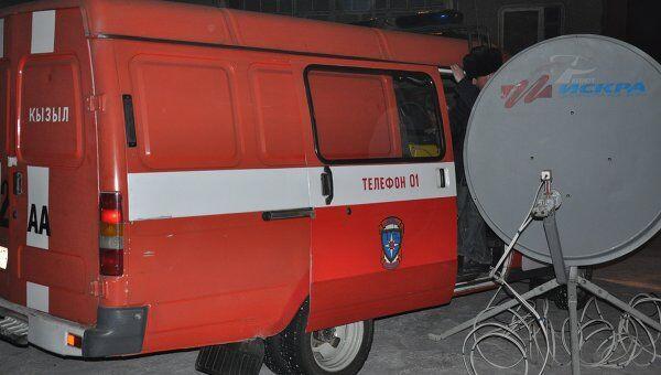 Мобильная станция оперативной связи МЧС на улице Кызыла