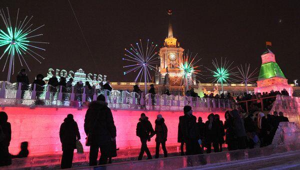 Ледовый горoдок в Екатеринбурге