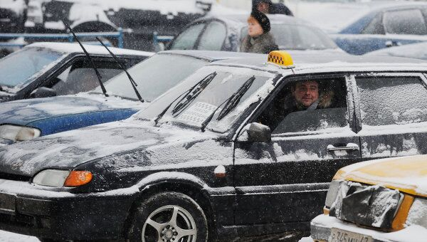 Работа такси в Москве. Архив