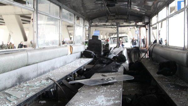 Последствия взрыва в Дамаске 6 января 2012 года