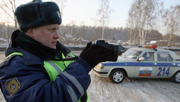 Работа сотрудников дорожно-патрульной службы ГИБДД. Архив