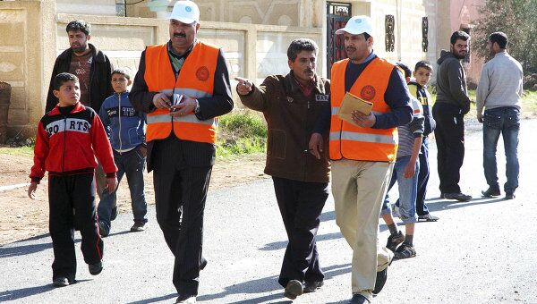 Работа наблюдателей ЛАГ в Сирии