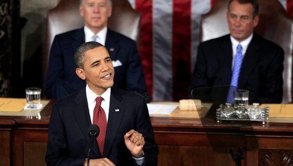 Барак Обама выступил с посланием к конгрессу