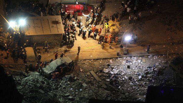 Обрушение дома в Рио-де-Жанейро