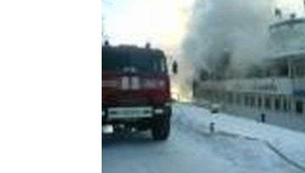 Пожар на теплоходе Анна Ахматова в Подмосковье