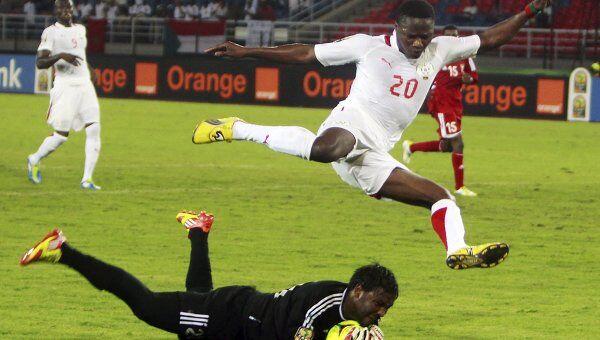 Игрвоой момент матча Судан - Буркина-Фасо