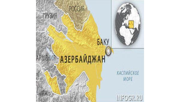 Азербайджан. Карта