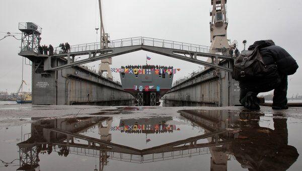 Спуск на воду головного фрегата ВМФ РФ Адмирал флота Сергей Горшков