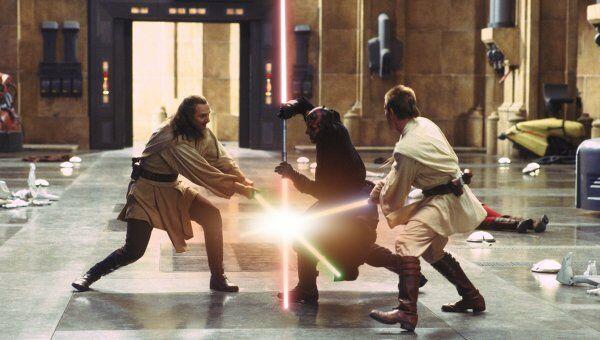 Кадр из фильма Звездные войны: Эпизод 1 - Скрытая угроза. Архивное фото