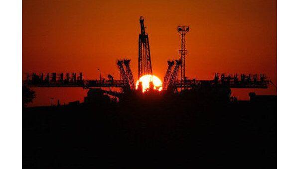 Восход солнца на космодроме