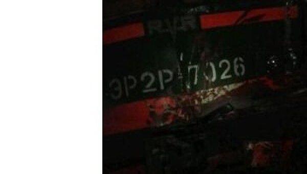 Столкновение грузовика с электропоездом в Подмосковье 2 февраля 2012 года