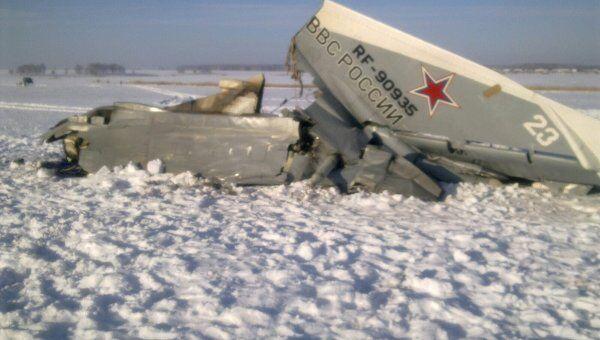 Cамолет СУ-24м, потерпевший крушение в Курганской области