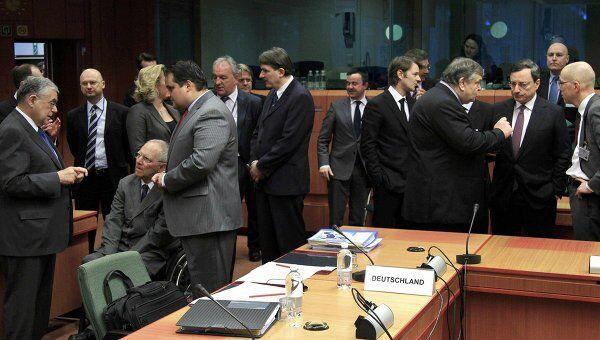 Встреча Еврогруппы в Брюсселе по вопросу финансовой помощи Греции