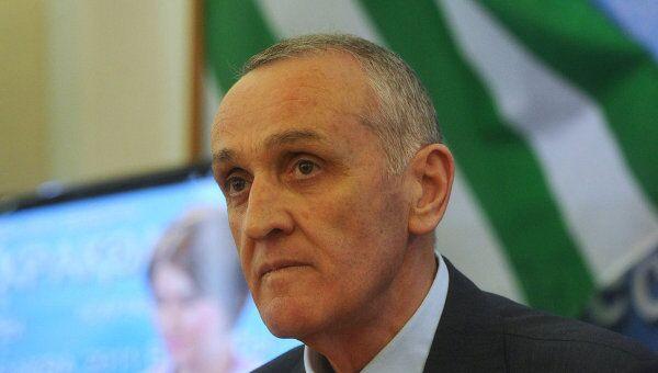 Президент Республики Абхазия Александр Анкваб. Архив