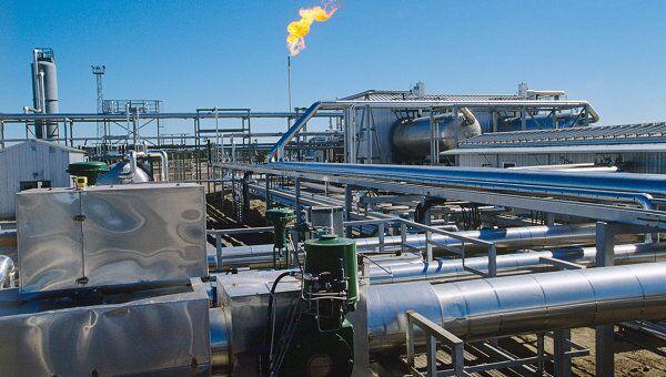 Завод по очистке газа на Усинском нефтяном месторождении
