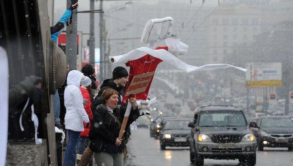 Акции Белый круг на Садовом кольце в Москве
