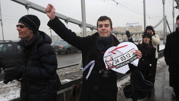 Акция Белый круг на Садовом кольце в Москве