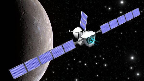 Бепи Коломбо» прибывает к Меркурию. Рисунок