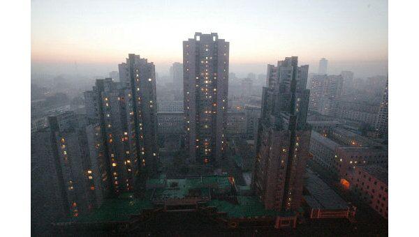 Центральная часть столицы КНДР города Пхеньяна. Архив