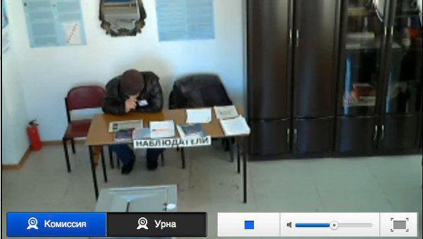 Голосование на избирательном участке №155, село Итум-Кале
