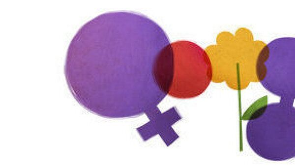 Google поздравил женщин с 8 марта праздничным логотипом
