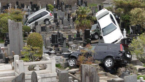 Последствия цунами 2011 года в Японии, архивное фото