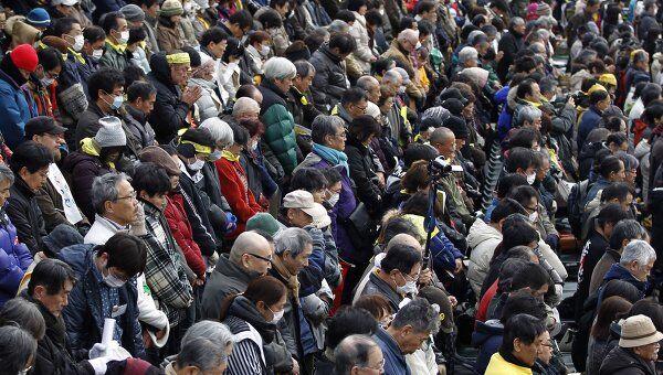 В Японии прошла минута молчания в память о жертвах землетрясения и цунами