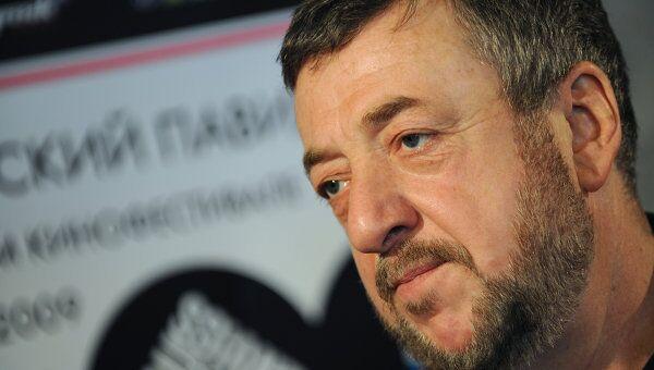 Павел Лунгин на пресс-конференции, посвященной открытию российского Павильона на Каннском кинофестивале