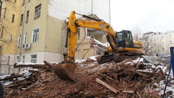 Москвичи остановили снос здания в Большом Козихинском переулке