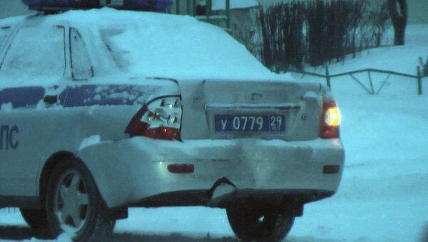 В Архангельск вернулась зима, снежная буря стала причиной нескольких ДТП