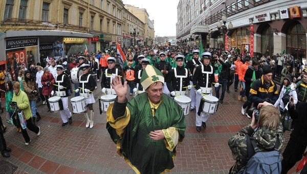 Парад в честь Дня Святого Патрика в Москве. Архивное фото