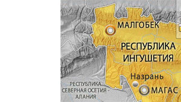 Ингушетия, Малгобек. Карта