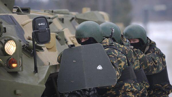 Учения батальонной группы и антитеррористических подразделений ВВ МВД РФ. Архивное фото