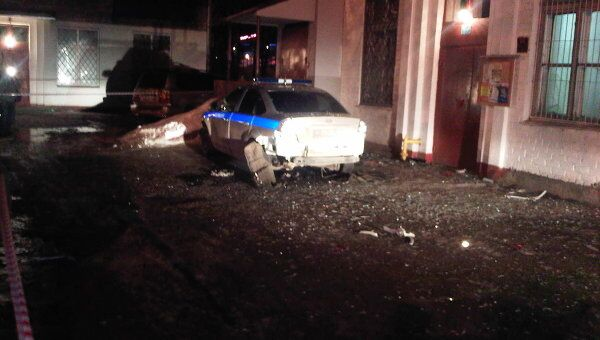 Взорванная машина замначальника полиции Химок