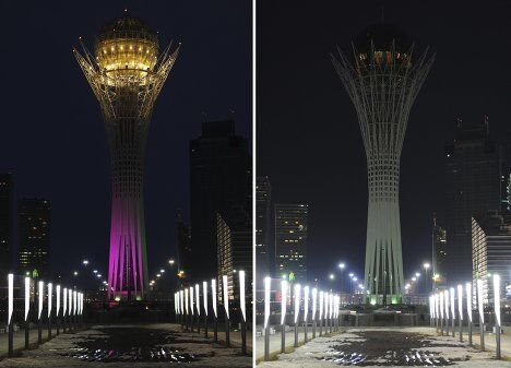 Акция Час Земли прошла в Астане, Казахстан