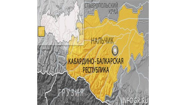 Кабардино-Балкария. Нальчик. Карта