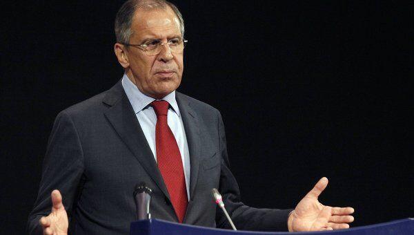 Сергей Лавров на заседании Совета Россия-НАТО