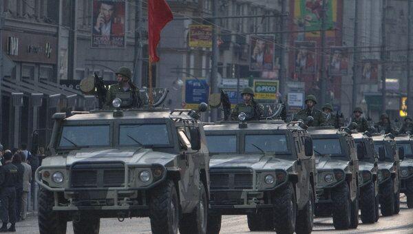 Репетиция военного парада, посвященного Дню Победы