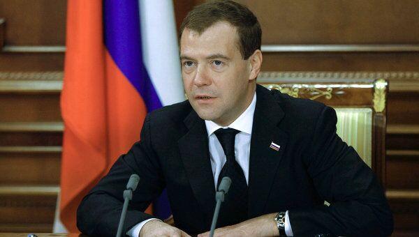 Встреча Дмитрия Медведева с руководителями космической отрасли