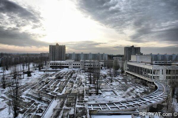 Город Припять после аварии на Чернобыльской АЭС