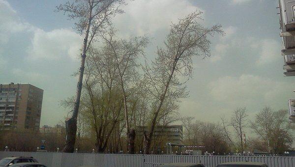 Зеленое небо в Москве