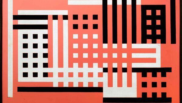 Йозеф Альберс. Фабрика А. 1925-26 годы. Работа представлена на выставке Баухаус: Искусство как жизнь в лондонской арт-галерее Barbican.