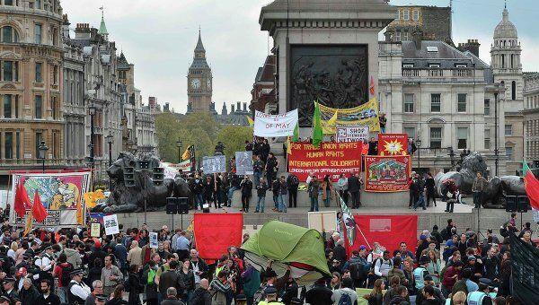 Первомайский митинг в Лондоне